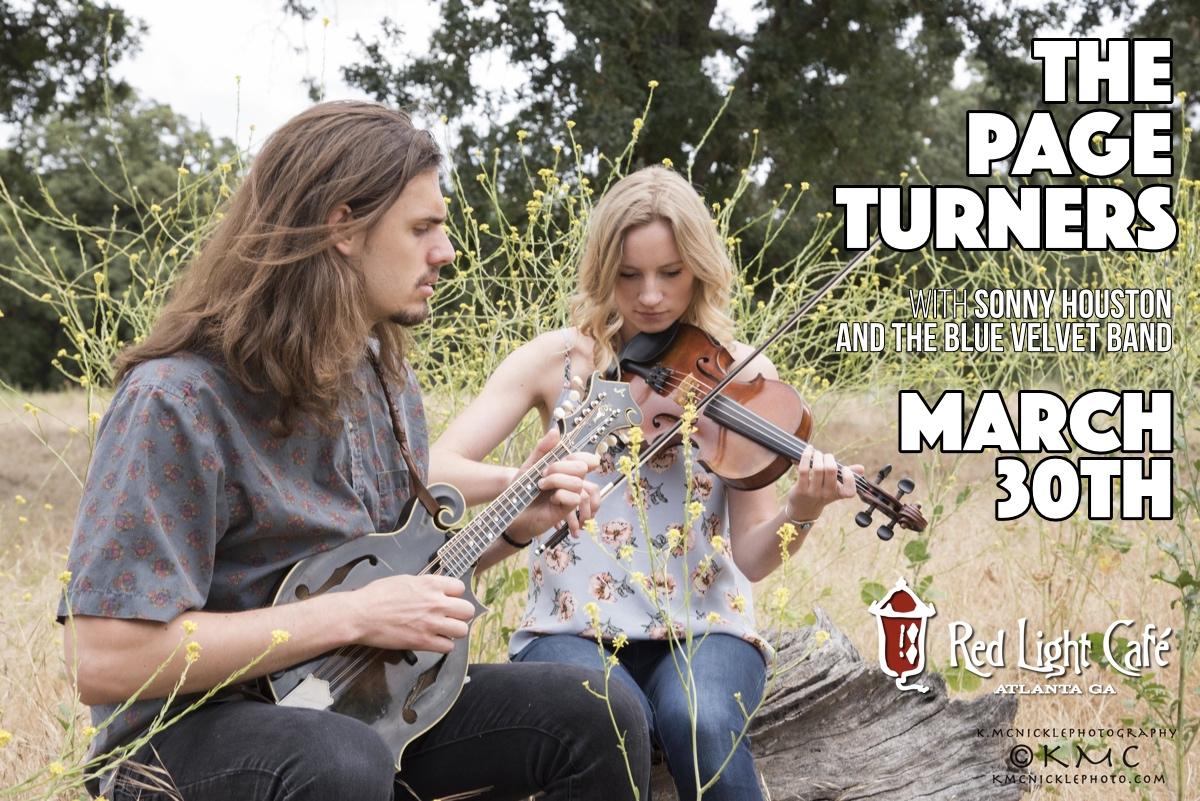 Bluegrass Stomp on Thursday: The Page Turners + Sonny Houston & The Blue Velvet Band — March 30, 2017 — Red Light Café, Atlanta, GA