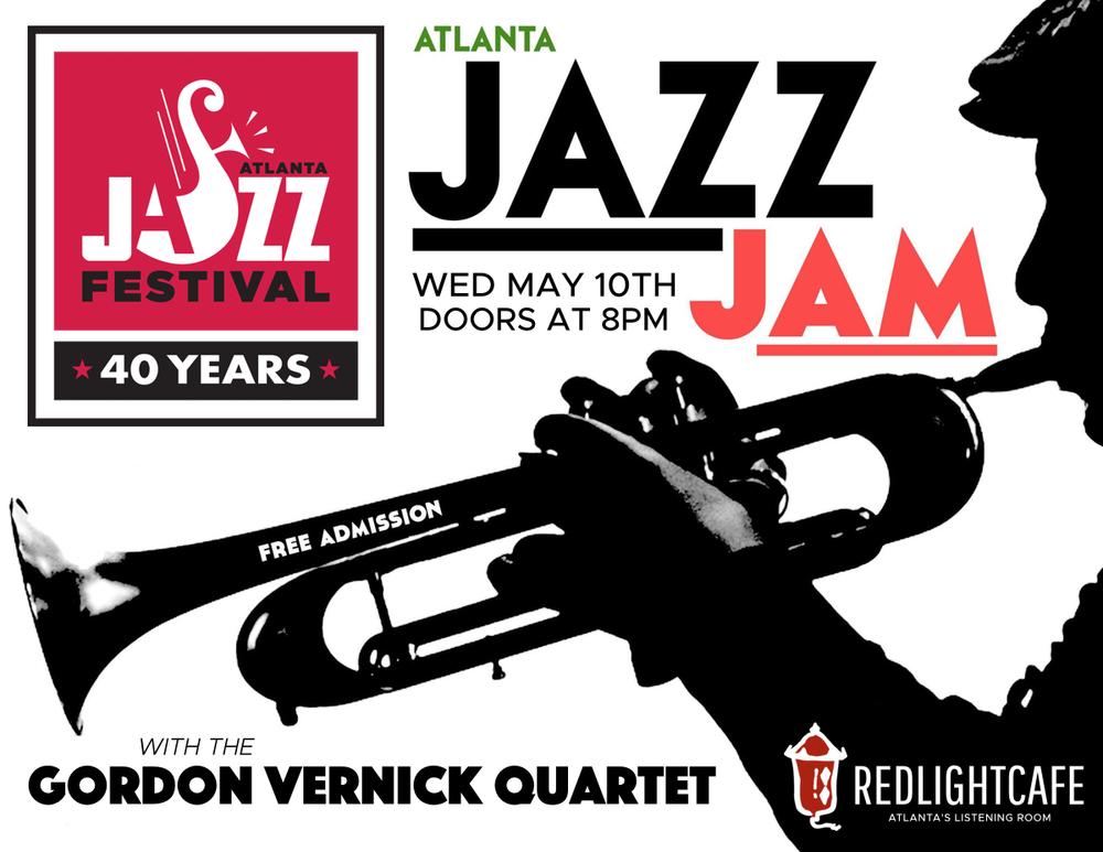 Jazz Jam w/ the Gordon Vernick Quartet — May 10, 2017 — Red Light Café, Atlanta, GA