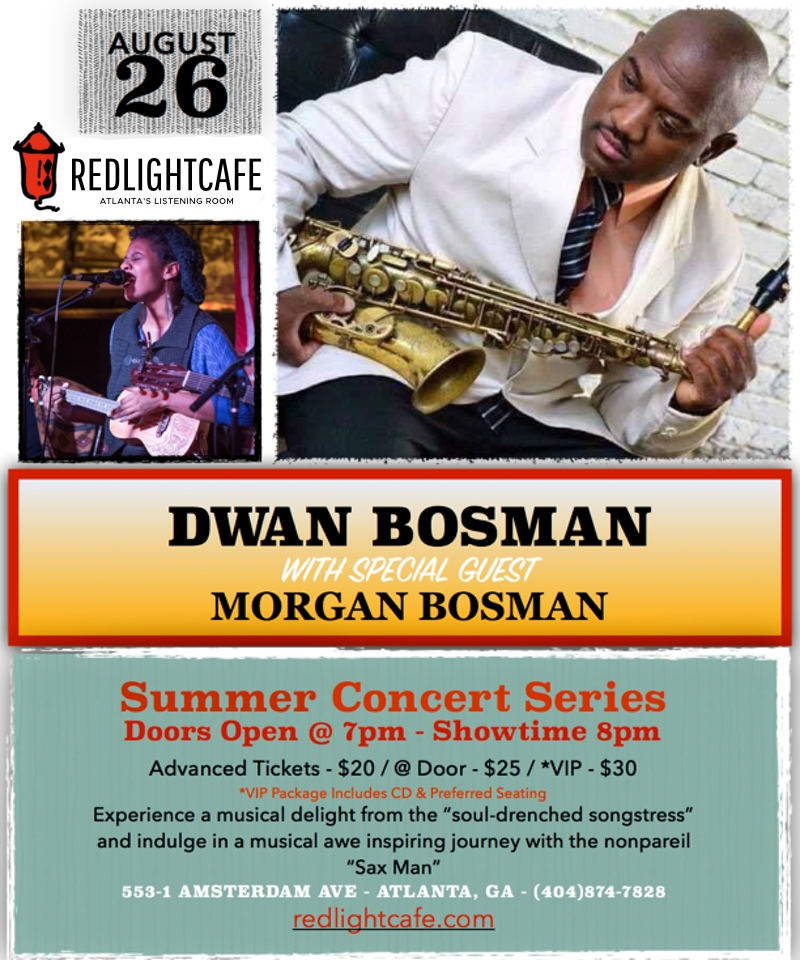 Dwan Bosman w/ Vanessa Graniero — August 26, 2017 — Red Light Café, Atlanta, GA