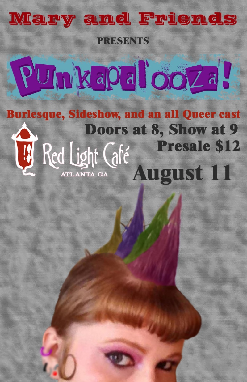 Mary and Friends: Punkapalooza! — August 11, 2017 — Red Light Café, Atlanta, GA