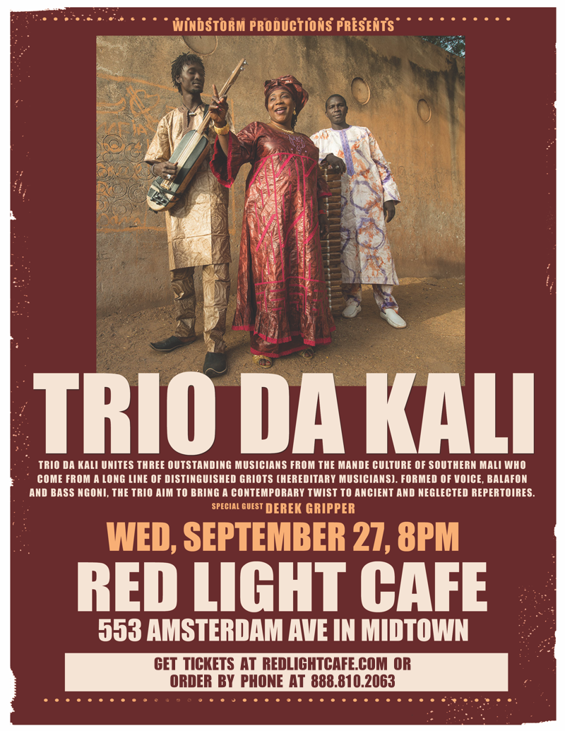 Africa Unplugged! Trio Da Kali w/ special guests Derek Grippers African Strings Project — September 27, 2017 — Red Light Café, Atlanta, GA
