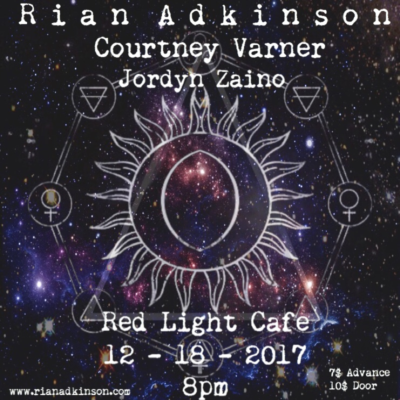 Rian Adkinson w/ Courtney Varner — December 18, 2017 — Red Light Café, Atlanta, GA