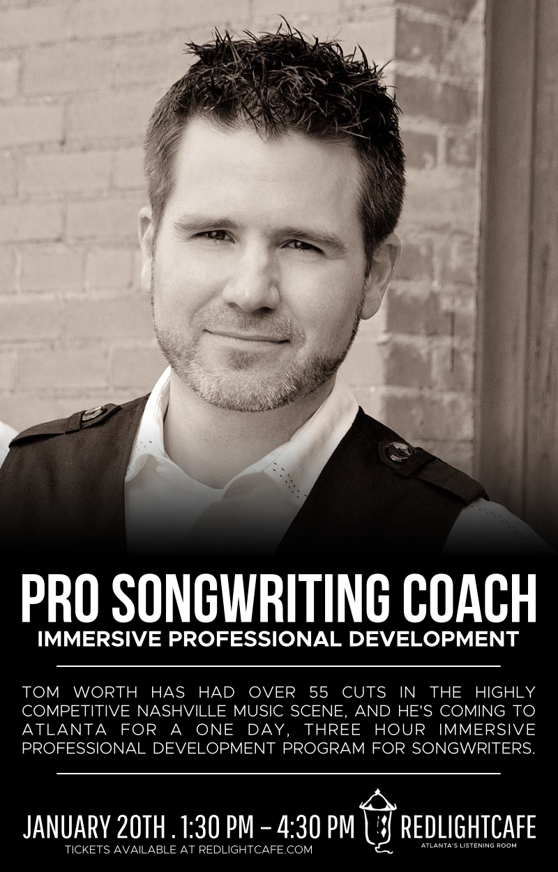 Pro Songwriting Coach: Three-Hour Immersive Professional Development — January 20, 2018 — Red Light Café, Atlanta, GA