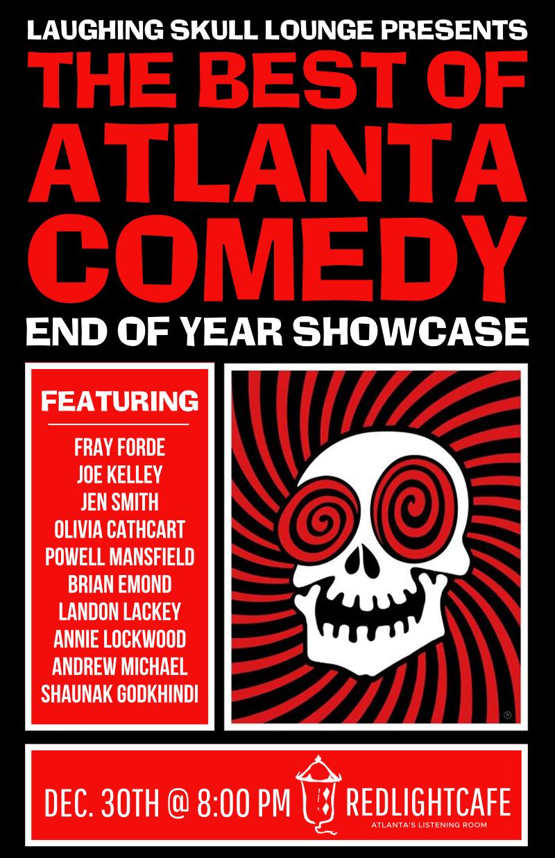 Best of Atlanta Comedy End-of-Year Showcase: Saturday Early Show — December 30, 2017 — Red Light Café, Atlanta, GA