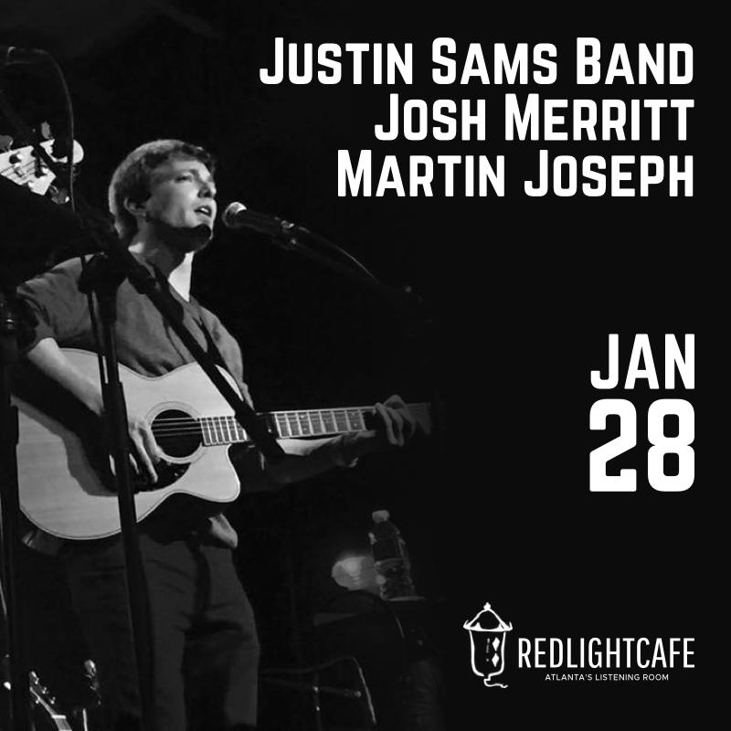 Justin Sams Band w/ Josh Merritt + Martin Joseph — January 28, 2018 — Red Light Café, Atlanta, GA