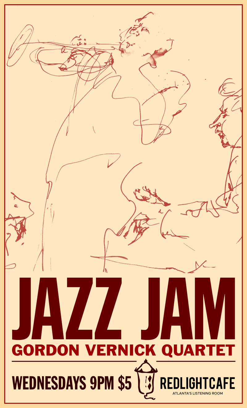Jazz Jam w/ the Gordon Vernick Quartet — March 28, 2018 — Red Light Café, Atlanta, GA