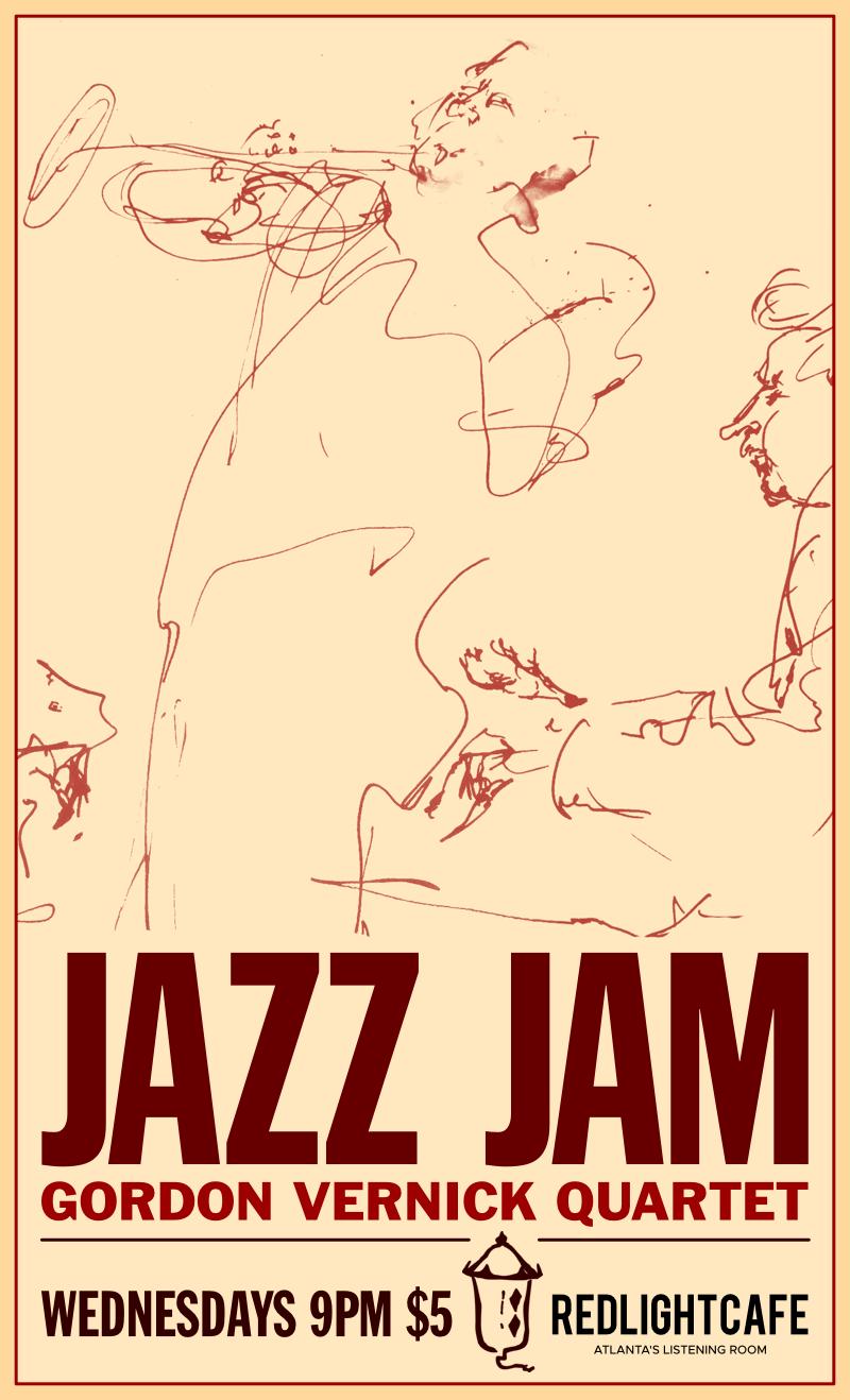 Jazz Jam w/ the Gordon Vernick Quartet — April 25, 2018 — Red Light Café, Atlanta, GA
