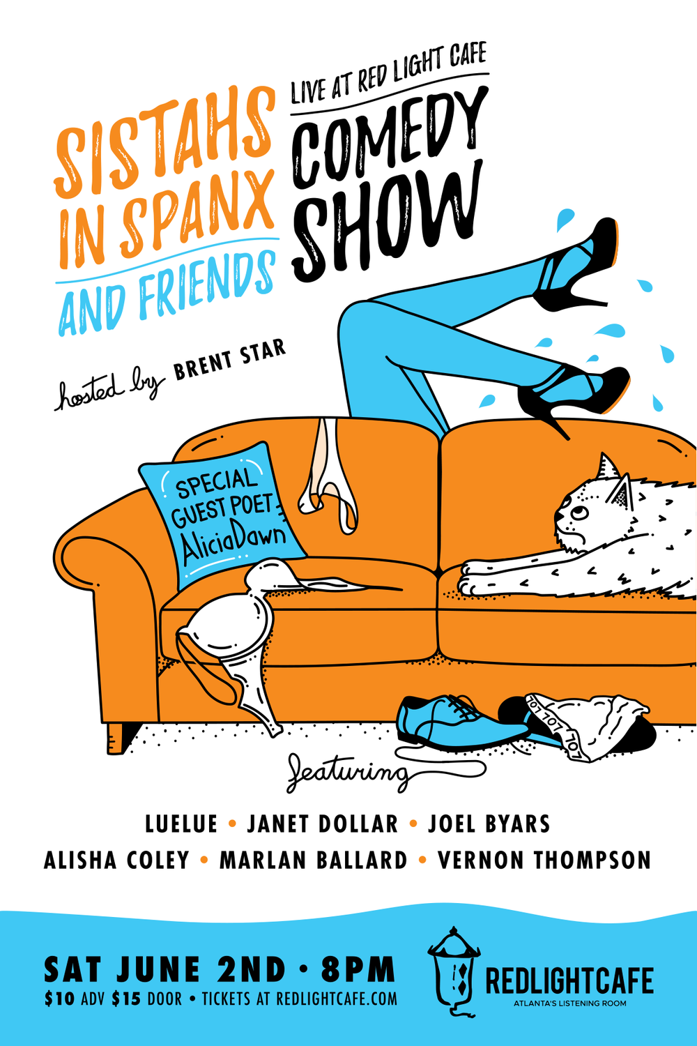 Sistahs in Spanx & Friends Comedy Show — June 2, 2018 — Red Light Café, Atlanta, GA