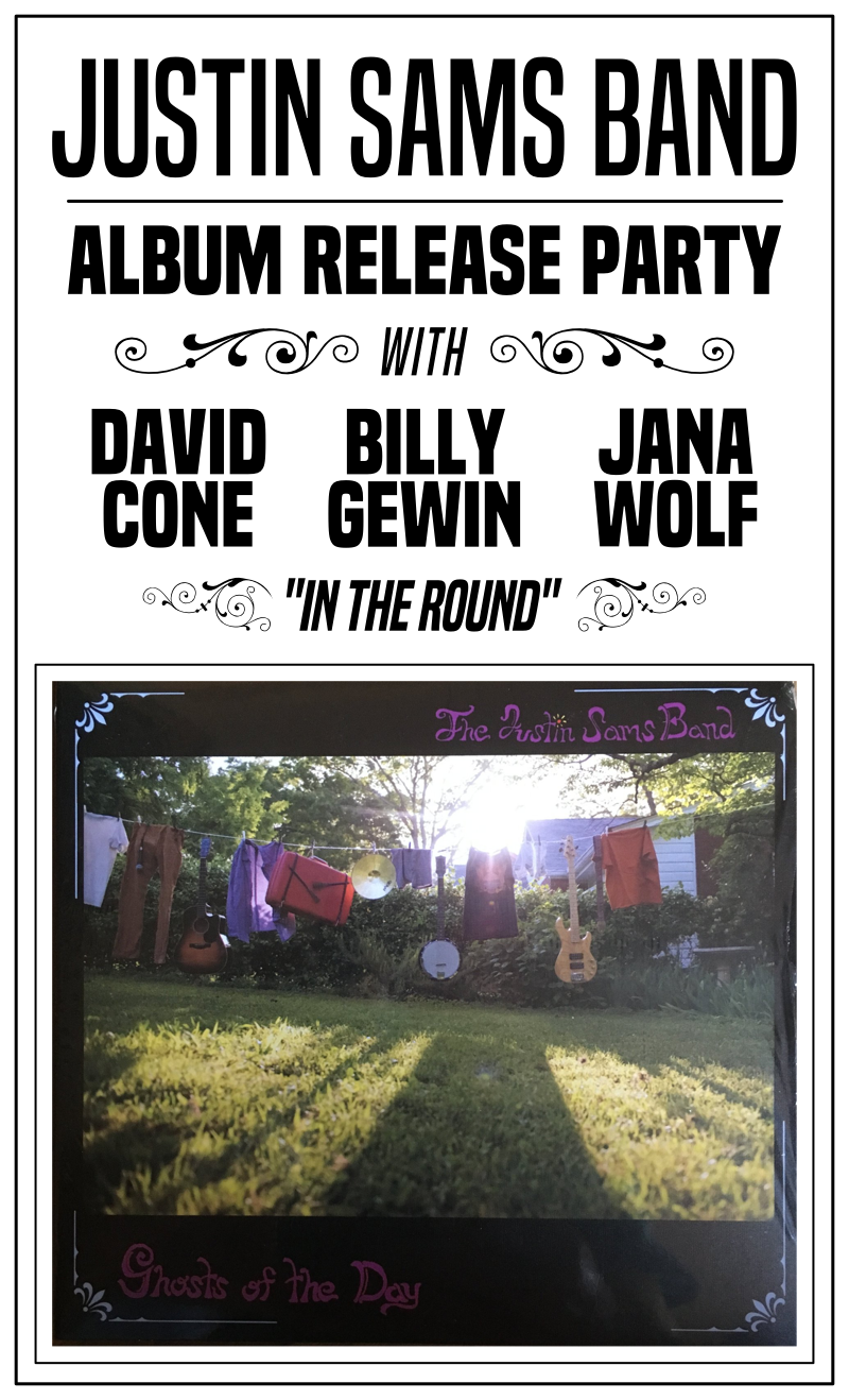 Justin Sams Band Album Release Party w/ David Cone + Billy Gewin + Jana Wolf (In the Round) — May 31, 2018 — Red Light Café, Atlanta, GA