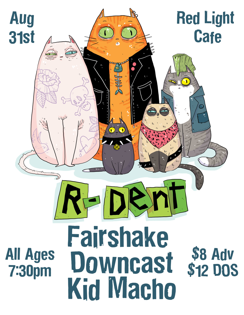 Fairshake + R-Dent + Downcast + Kid Macho — August 31, 2018 — Red Light Café, Atlanta, GA