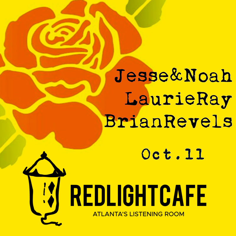 Jesse & Noah w/ Laurie Ray and Brian Revels — October 11, 2018 — Red Light Café, Atlanta, GA