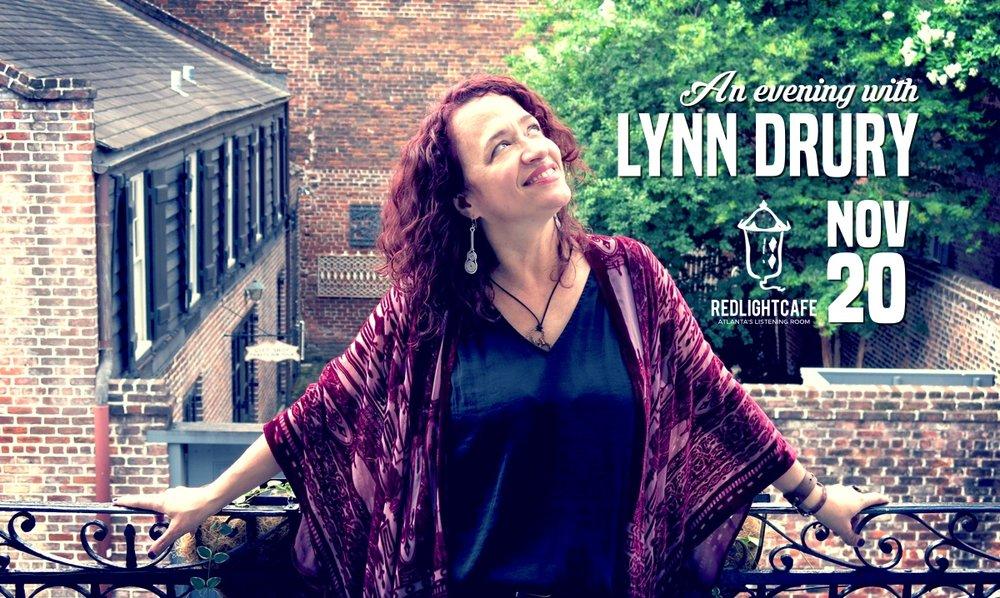 An Evening with Lynn Drury — November 20, 2018 — Red Light Café, Atlanta, GA
