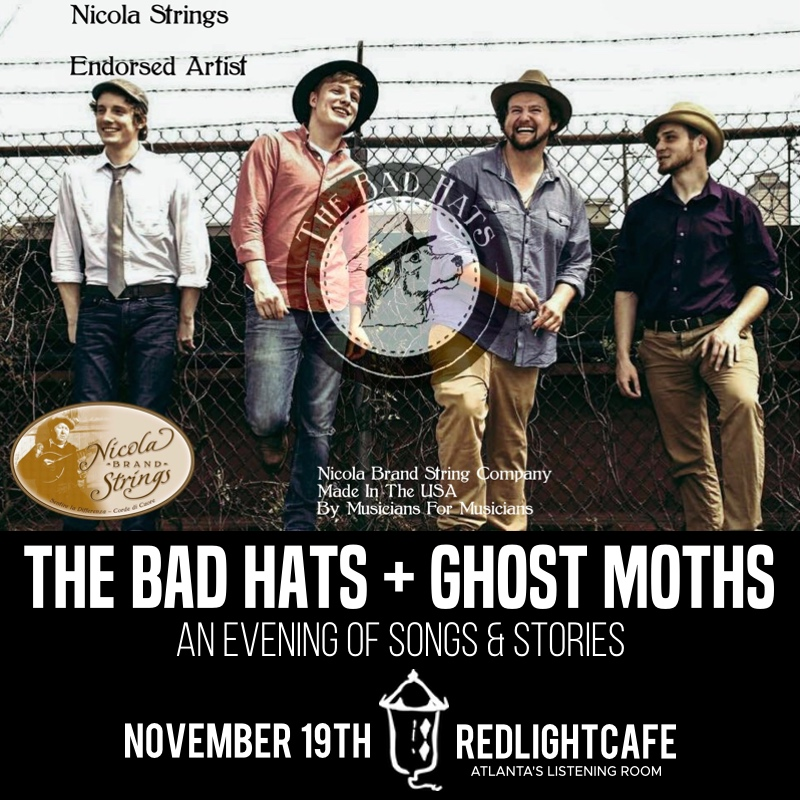 The Bad Hats + Ghost Moths: An Evening of Songs & Stories — November 19, 2018 — Red Light Café, Atlanta, GA