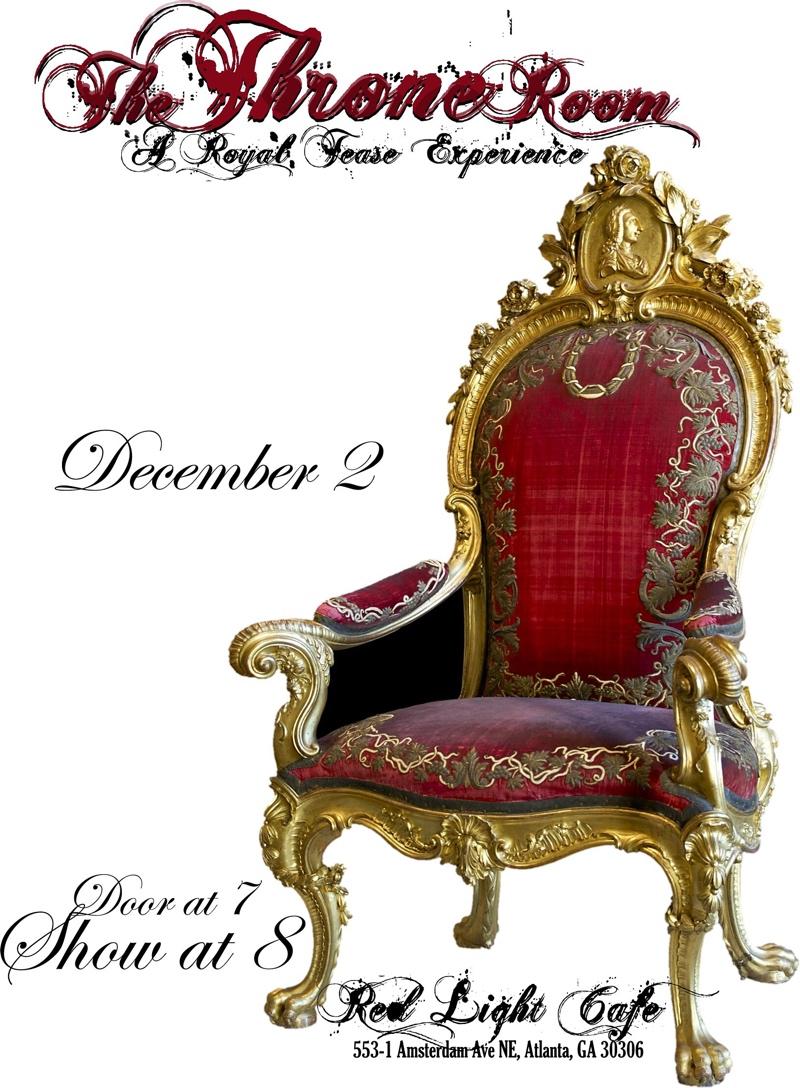 The Throne Room: A Royal Tease Experience — December 2, 2018 — Red Light Café, Atlanta, GA