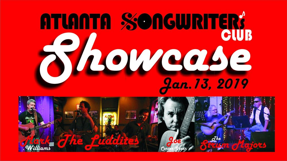 Atlanta Songwriters Club Member Showcase — January 13, 2019 — Red Light Café, Atlanta, GA