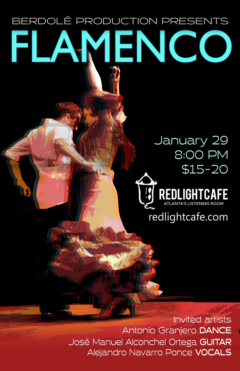 Tablao Flamenco feat. Antonio Granjero + Alejandro Navarro Ponce + José Manuel Alconchel Ortega + Julie Galle Baggenstoss — January 29, 2019 — Red Light Café, Atlanta, GA