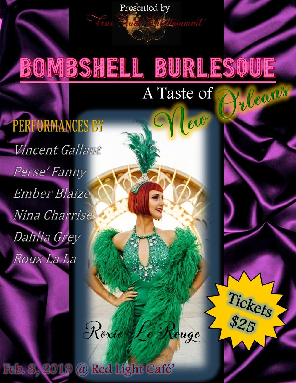 BOMBSHELL BURLESQUE: A Taste of New Orleans! — February 8, 2019 — Red Light Café, Atlanta, GA