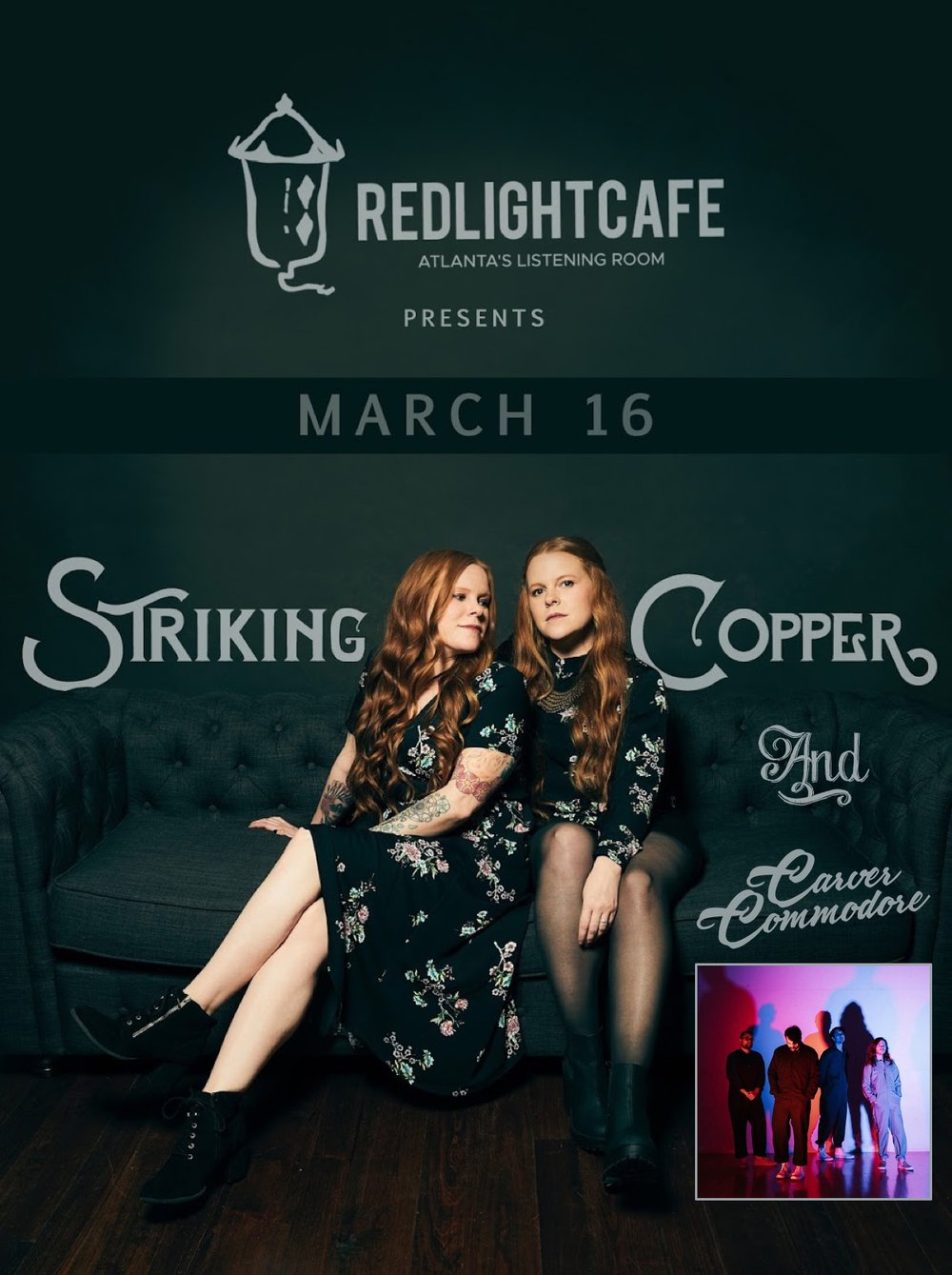 Striking Copper + Carver Commodore w/ special guests — March 16, 2019 — Red Light Café, Atlanta, GA