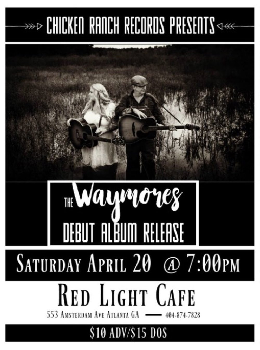 The Waymores Debut Album Release Party — April 20, 2019 — Red Light Café, Atlanta, GA