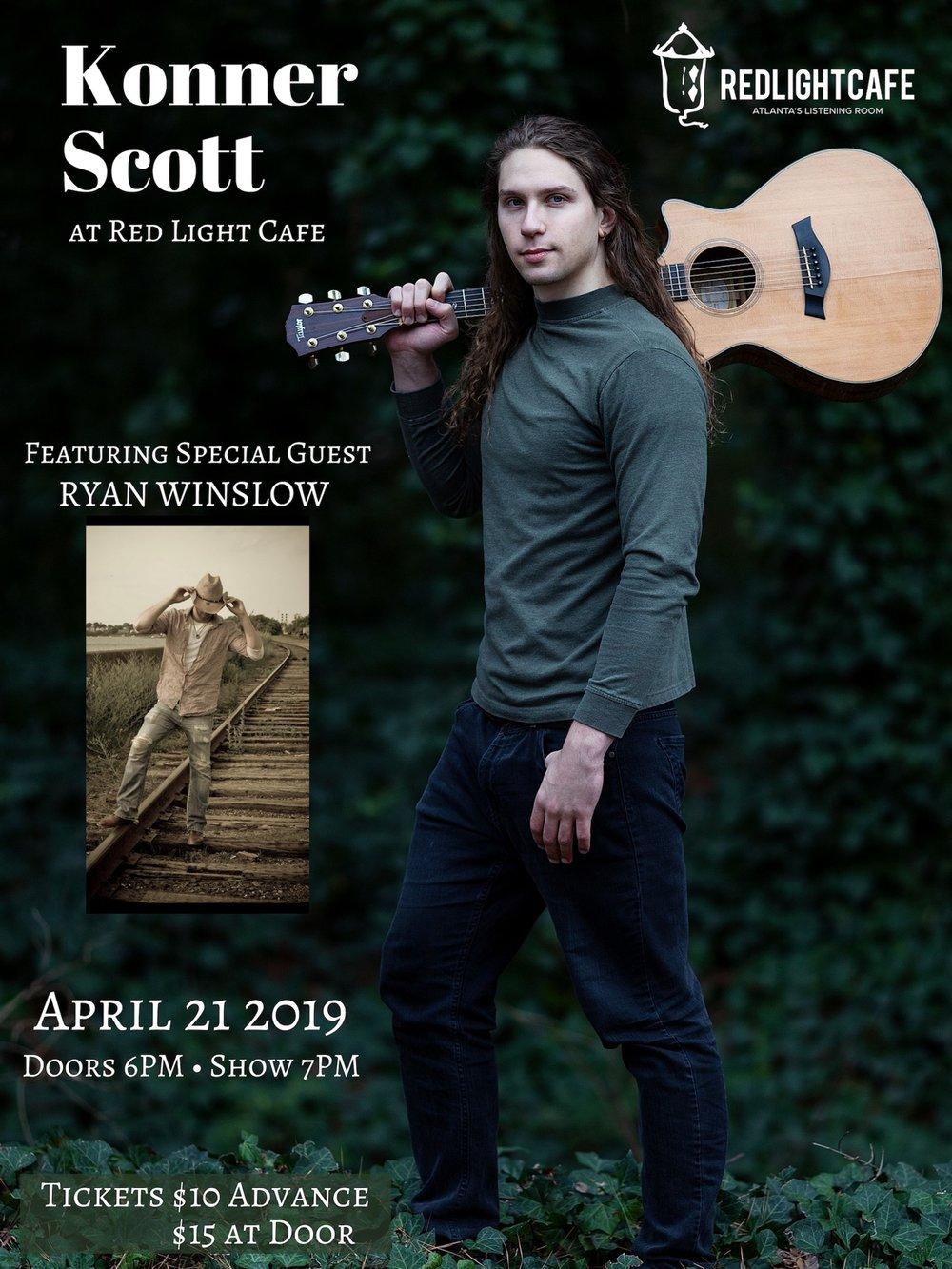 Konner Scott w/ special guest Ryan Winslow — April 21, 2019 — Red Light Café, Atlanta, GA