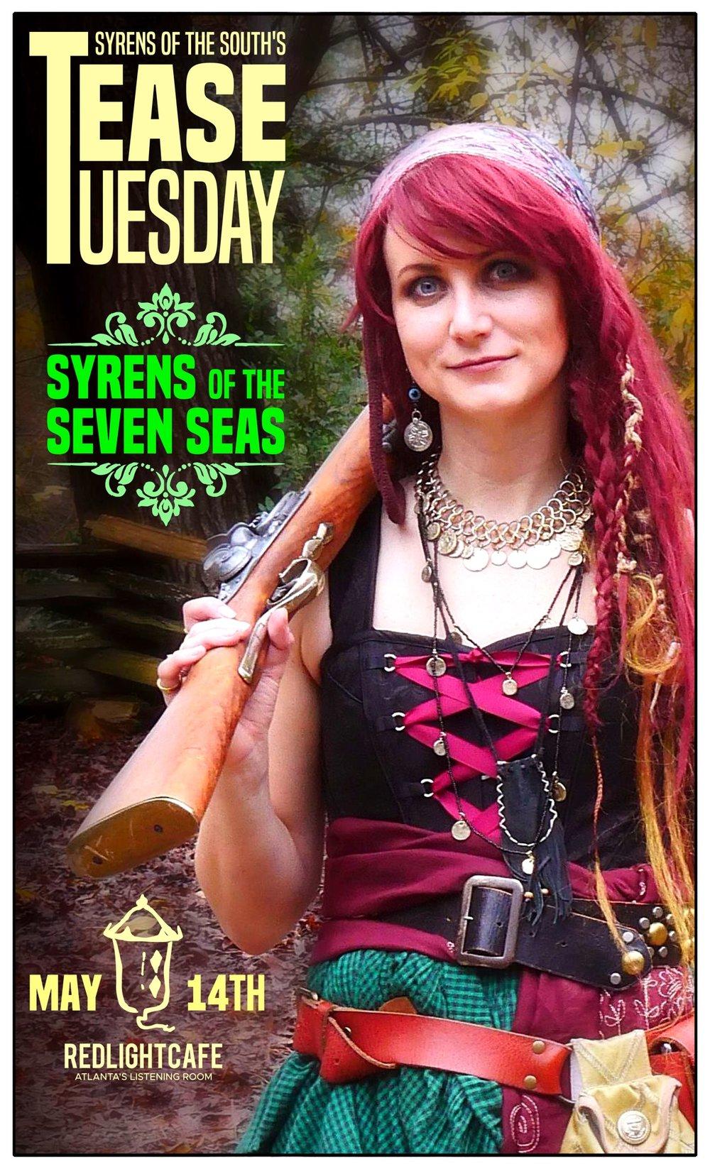 Tease Tuesday Burlesque: Syrens of the Seven Seas — May 14, 2019 — Red Light Café, Atlanta, GA