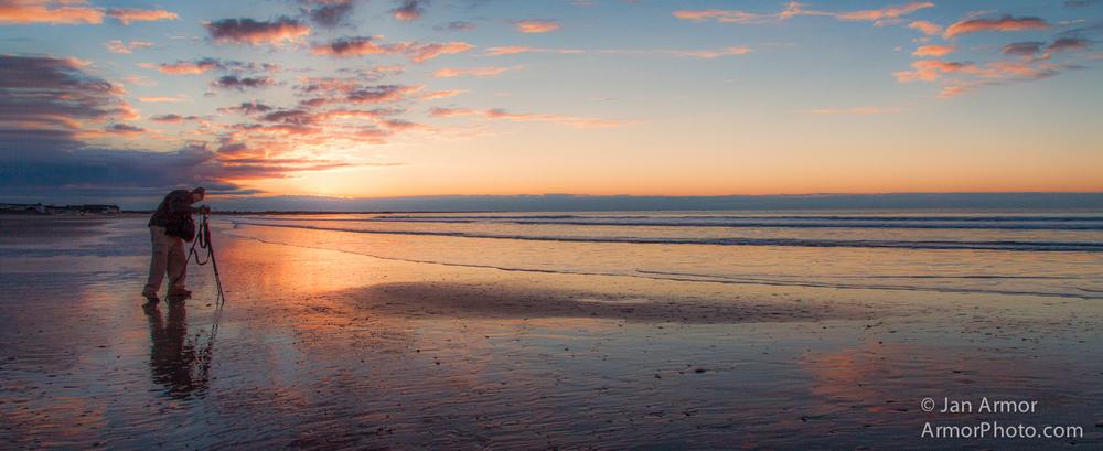 Sunrise Over Narragansett Beach
