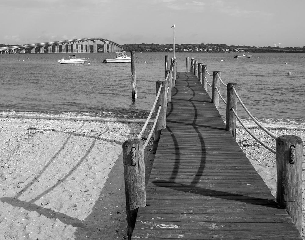 """Shadows on the Dock of the Bay"" by Cindy Klein"