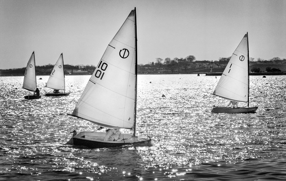 """Frostbiting, Newport Yacht Club, 1978"" by Paul J. Mello"