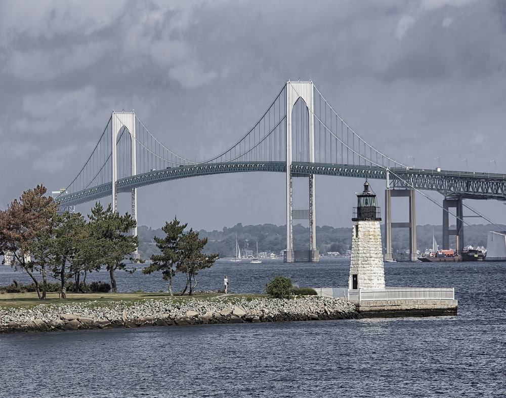 """Newport Harbor Light""  by Mony Gomez"