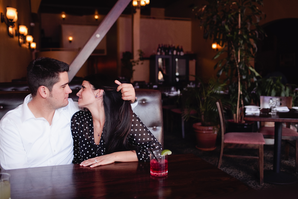 engagement session whiskey bar