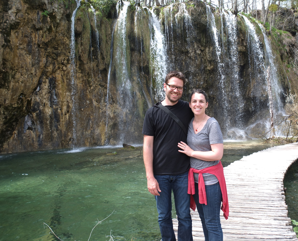 Tony and I at Plitvice Lakes National Park, Croatia