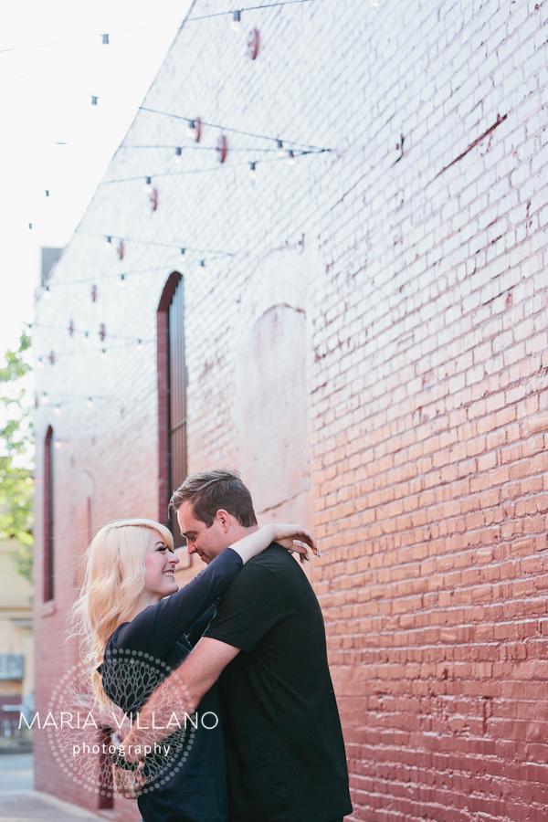 cute couple in alleyway in santa rosa