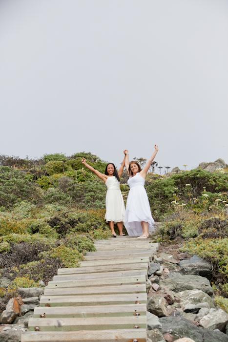 lesbian wedding bodega bay beach