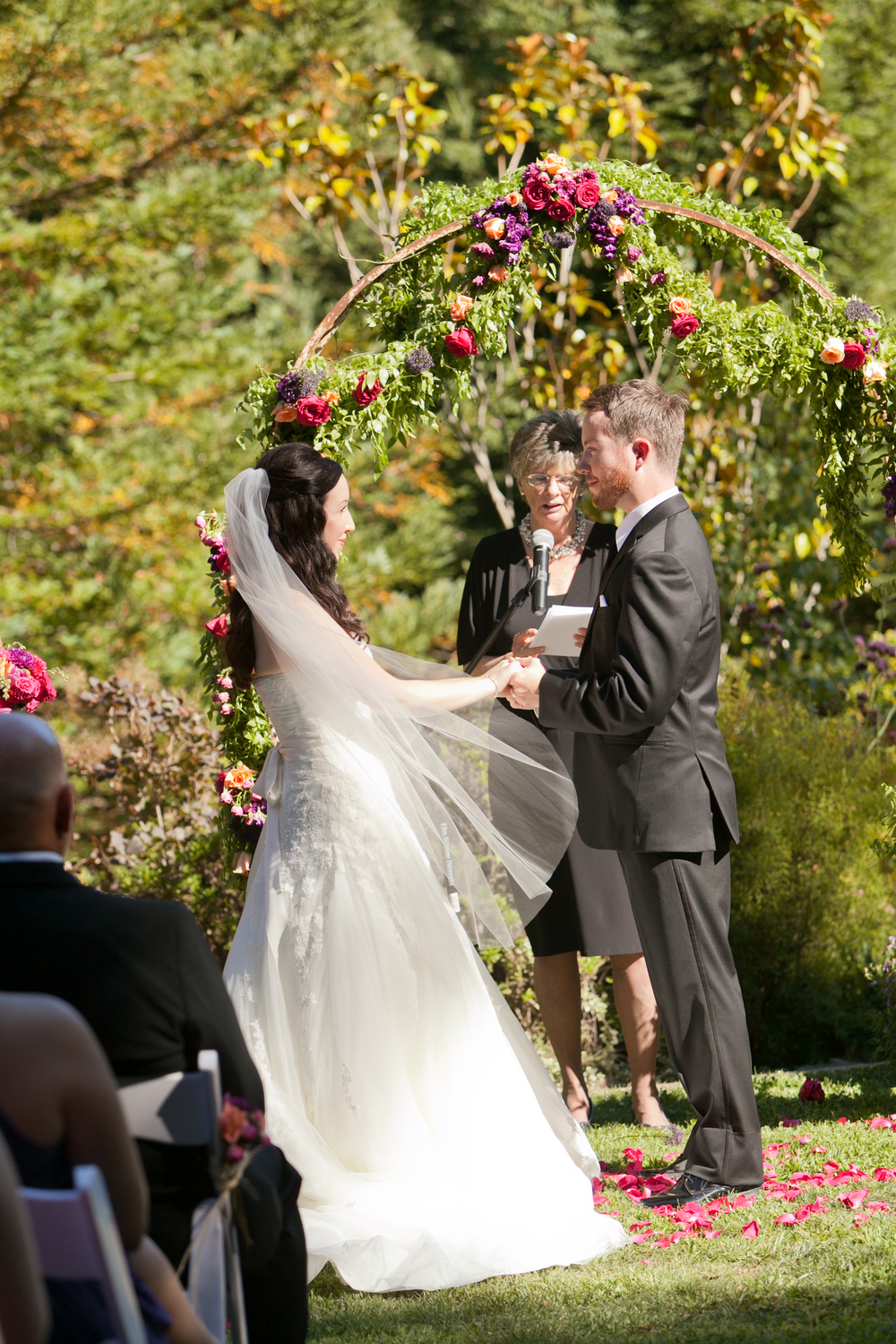 ceremony at redwood hills garden