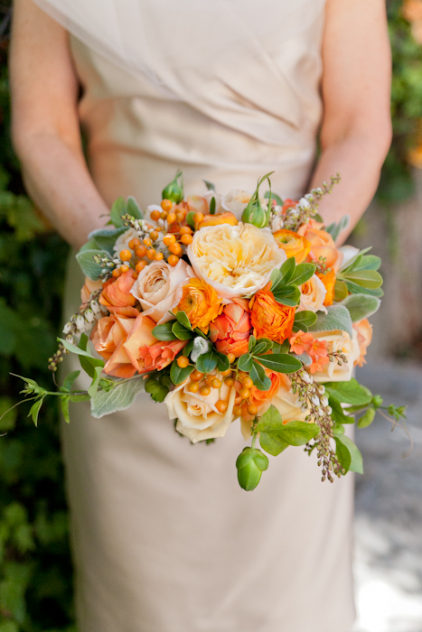Wedding bouquet by Catherine Scott, wine country wedding