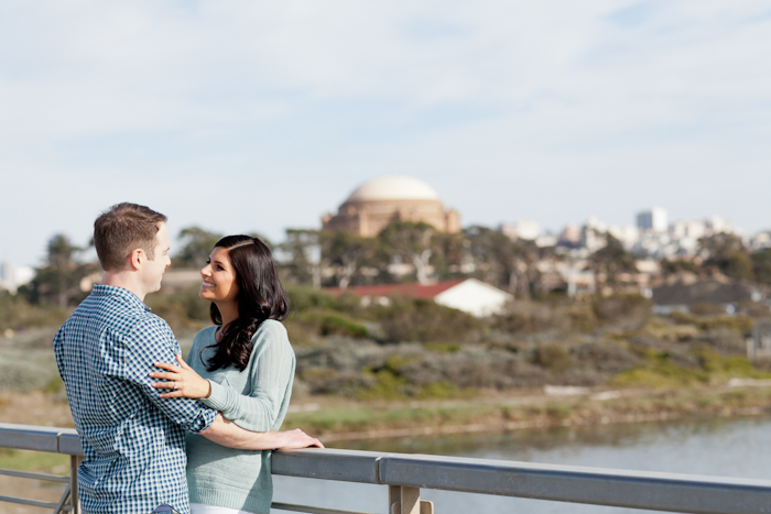 crissy field engagement photos