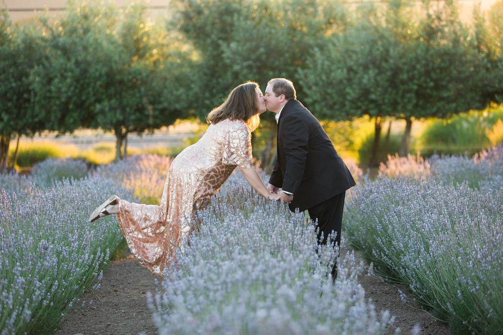 Matanzas Creek Winery Lavender Field Engagement Session Santa Rosa