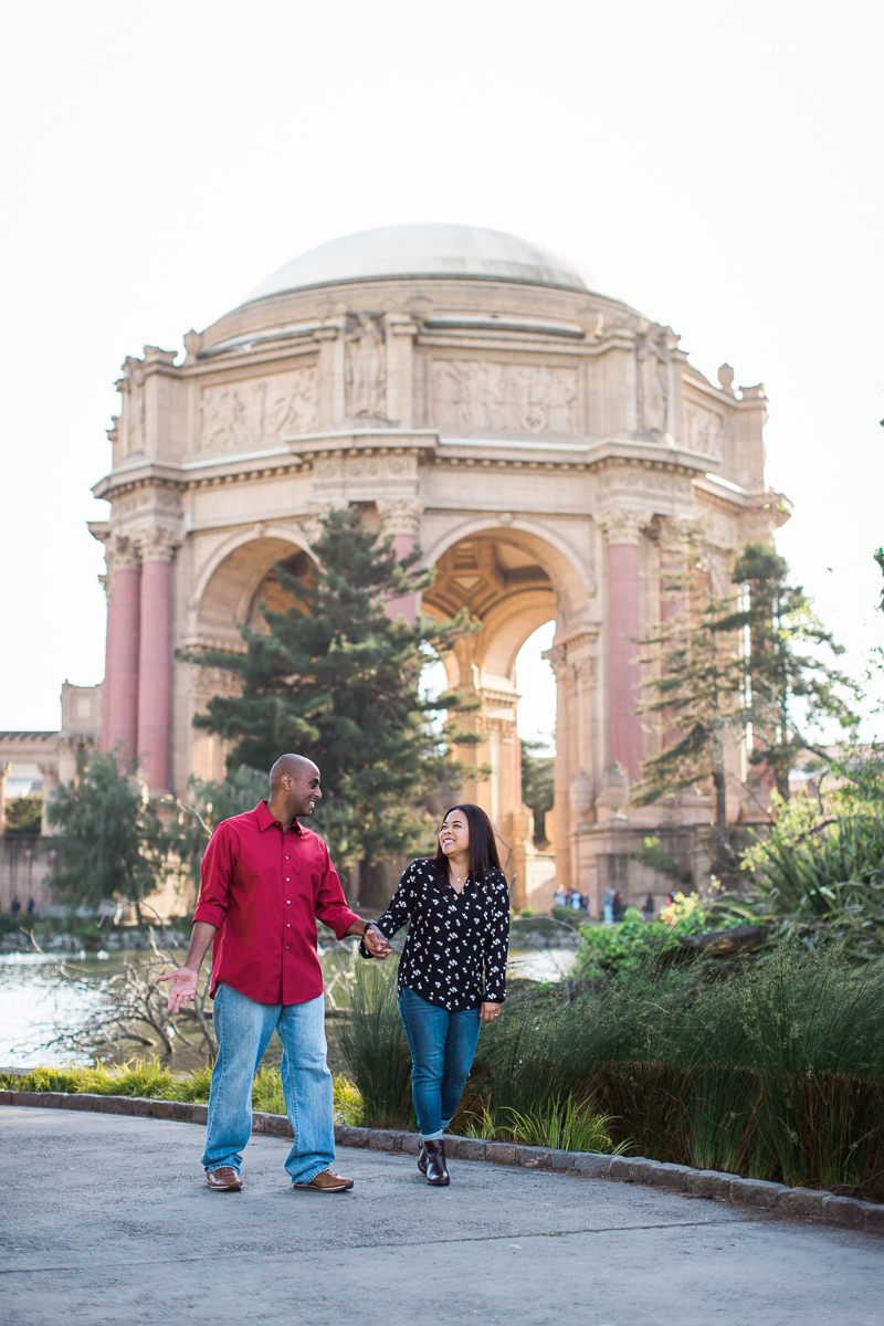 palace of fine arts engagement session maria villano photography