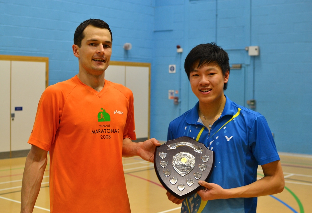 Mindaugas Dabasinskas and Tom Li: Mens doubles winners