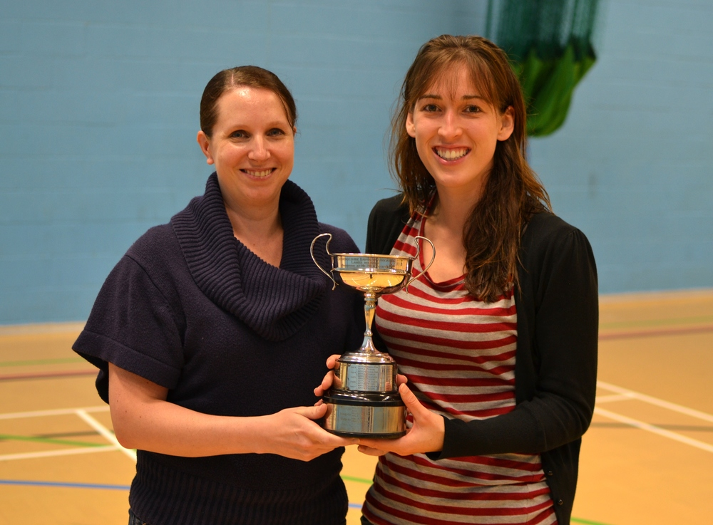 Natalie Taylor and Sara Mason: Ladies doubles winners