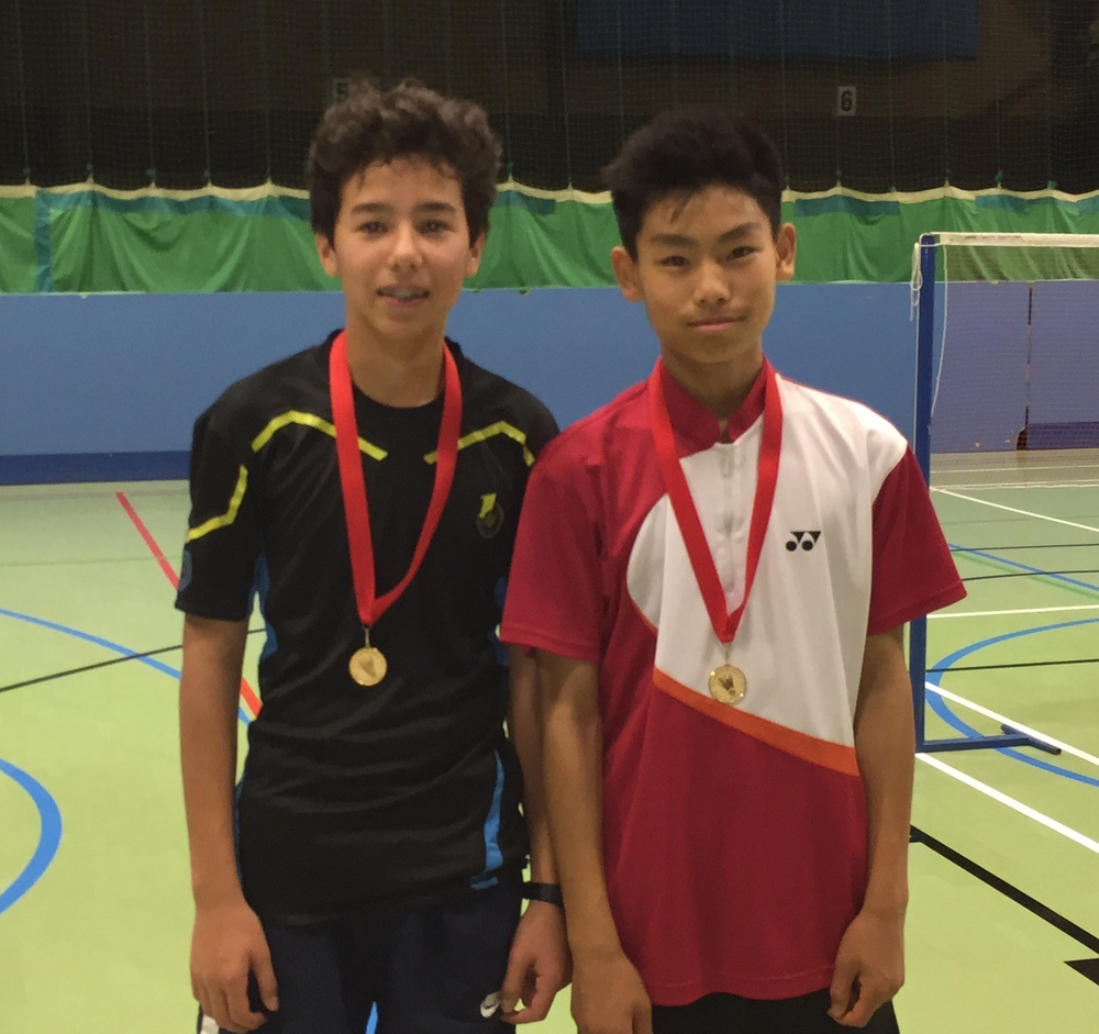 Cameron Foo and Harry Zhao  Winners: Cambs U15 Bronze Boys Doubles