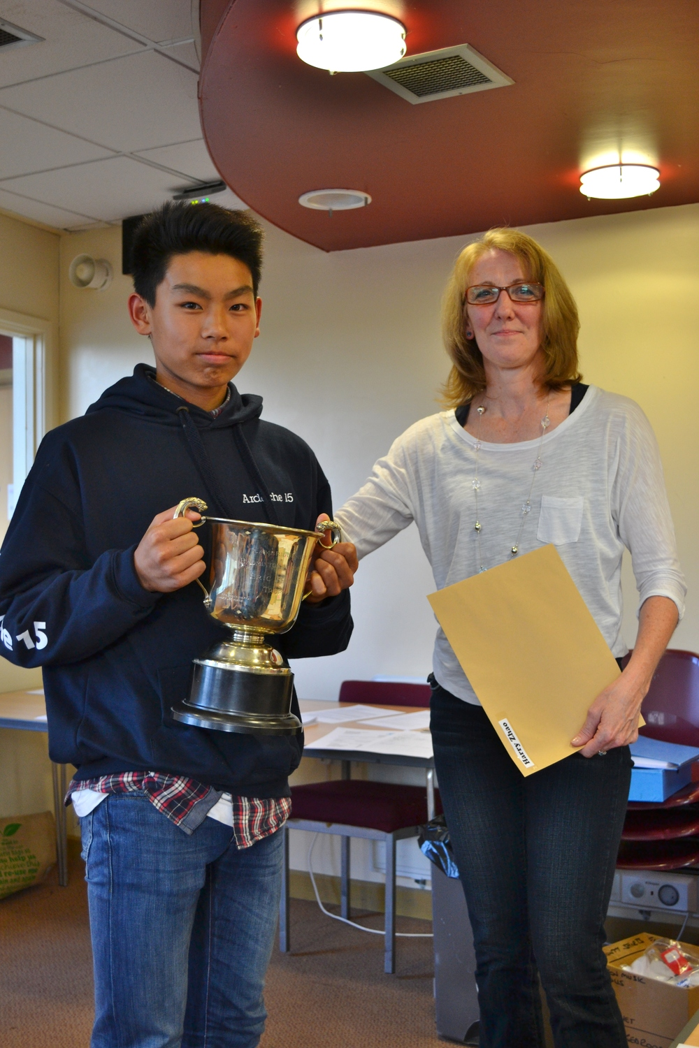 Harry Zhao awarded the Eric Raynor Trophy