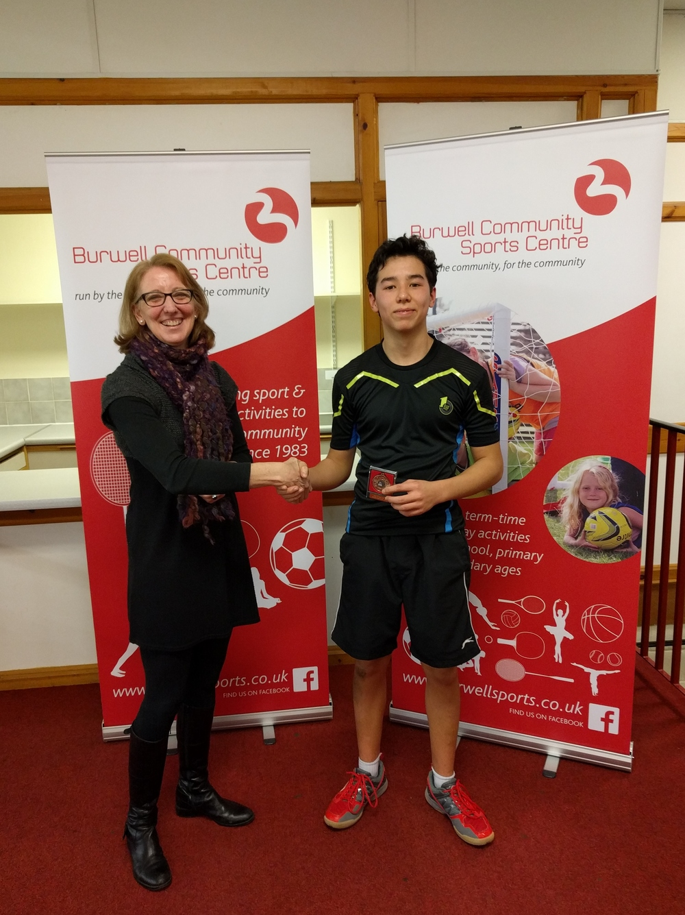 U15 Boys Singles Runner Up: Cameron Foo