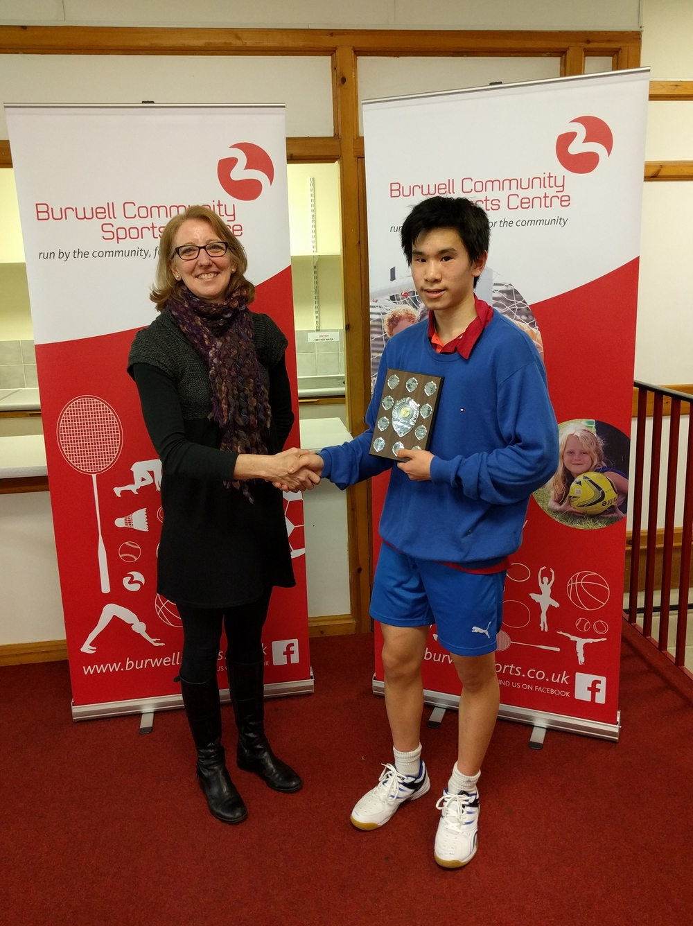 U15 Boys Singles Winner: James Xu
