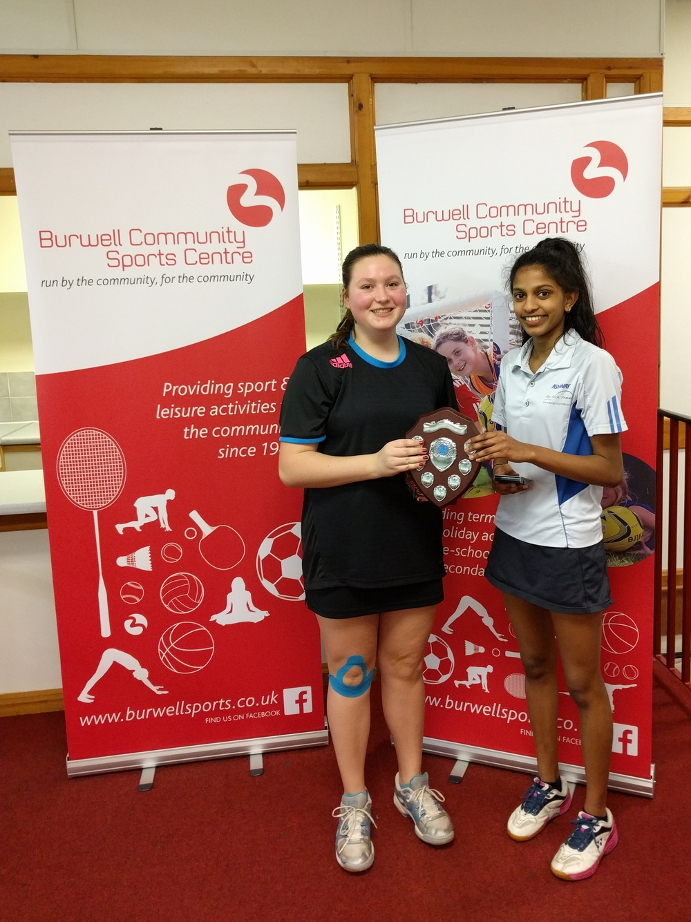U15 Girls Doubles Winners: Chanumi Gamage & Sophia Abbot