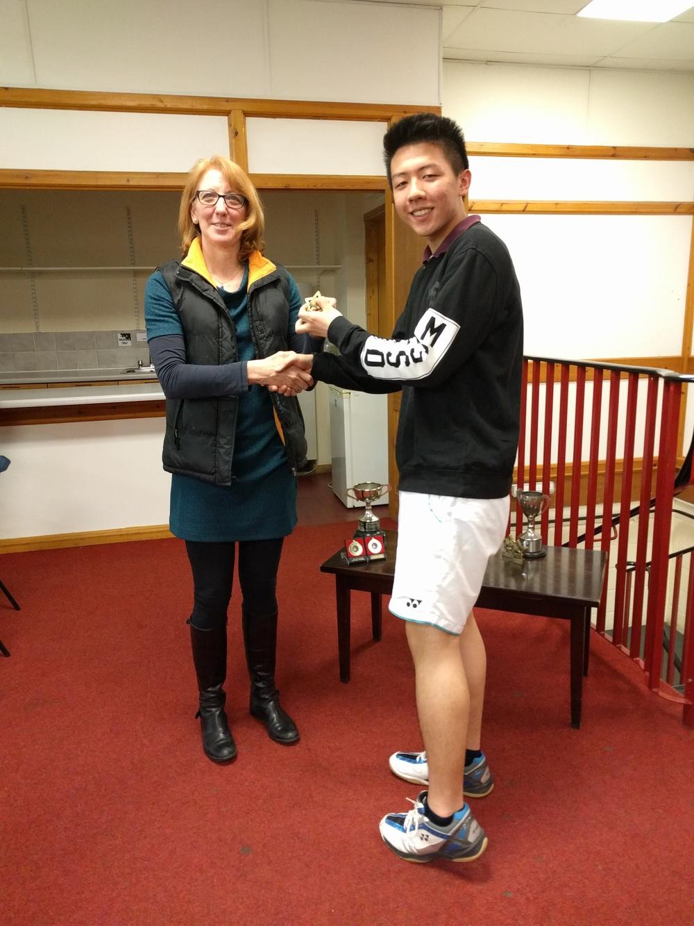 U19 Boys Singles RU: Leo Huang