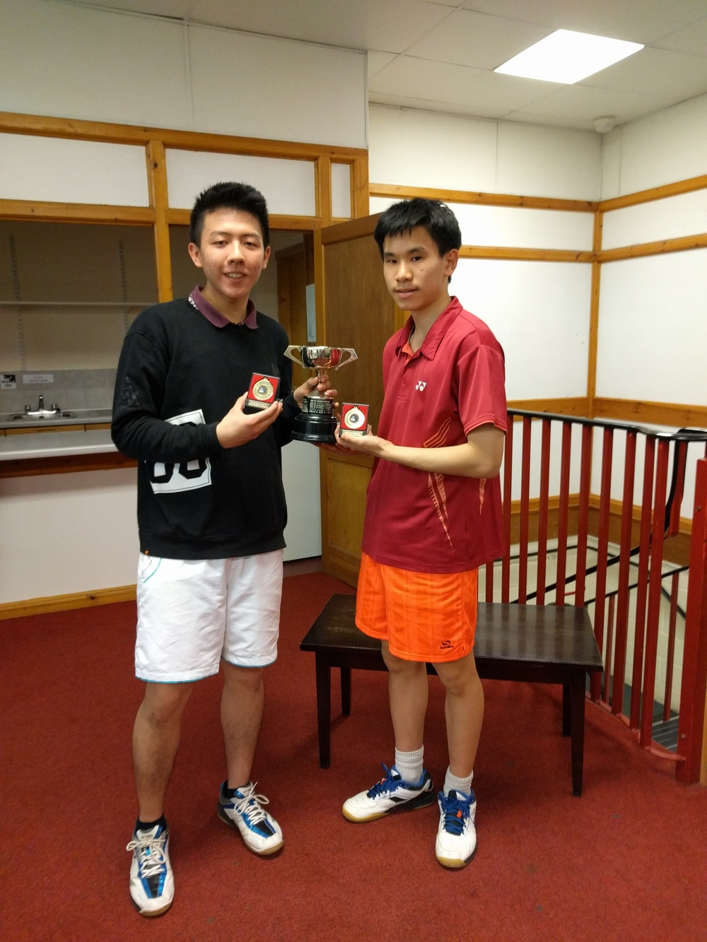 U19 Boys Doubles Winners: Leo Huang & James Xu