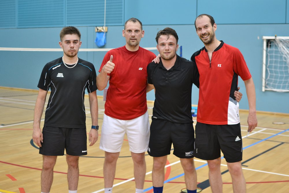 MD runners up Tom Woodcock and Paul Mayfield, and winners Jack Smith and James Barclay