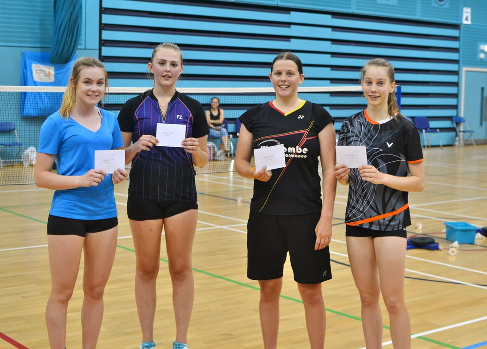 WD winners Ellie Wheatley and Abby Downing, and runners up Natalia Mitchell and Amy Hayhoe