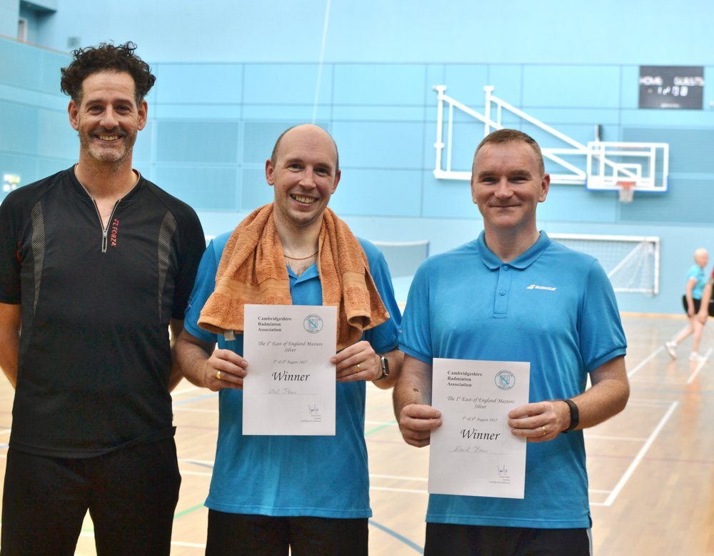 MD Masters O35 winners: Neil Place and Daniel Bates